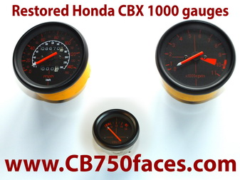 honda cbx 1000 restored gauges